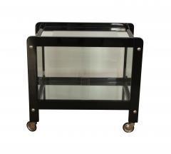 Art Deco Serving Table Black Lacquer and Glass France circa 1930 - 1037715