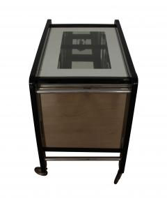 Art Deco Serving Table Black Lacquer and Glass France circa 1930 - 1037716