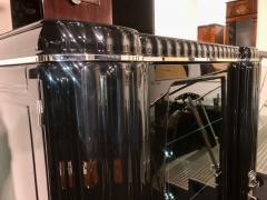 Art Deco Showcase Black Lacquer Nickel and Glass France circa 1930 - 1240248