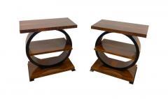 Art Deco Side Table Walnut Veneer France circa 1925 - 1612284