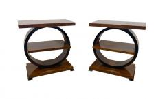 Art Deco Side Table Walnut Veneer France circa 1925 - 1612285