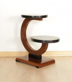 Art Deco Side Table Walnut Veneer France circa 1930 - 1074327
