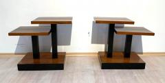 Art Deco Side Tables Walnut Veneer and Black Polish France circa 1930 - 1730180