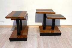 Art Deco Side Tables Walnut Veneer and Black Polish France circa 1930 - 1730183