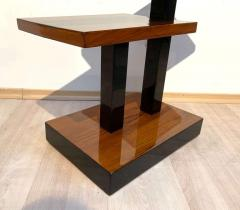 Art Deco Side Tables Walnut Veneer and Black Polish France circa 1930 - 1730186