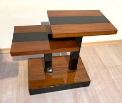Art Deco Side Tables Walnut Veneer and Black Polish France circa 1930 - 1730225