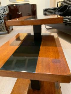 Art Deco Side Tables Walnut Veneer and Black Polish France circa 1930 - 1730255
