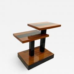 Art Deco Side Tables Walnut Veneer and Black Polish France circa 1930 - 1746494