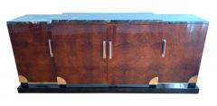 Art Deco Sideboard Walnut Roots Green Marble Southern France circa 1930 - 1488036