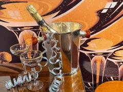 Art Deco Silver Champagne Bucket with Bakelite Handles - 1807021