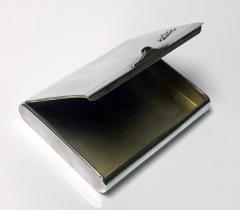 Art Deco Silver Cigarette Case Box Estonia C 1925  - 1435730