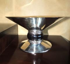 Art Deco Silver Compote with Ebony Detail - 384219