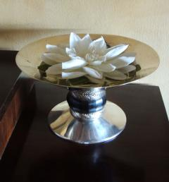 Art Deco Silver Compote with Ebony Detail - 384220