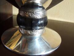 Art Deco Silver Compote with Ebony Detail - 384223