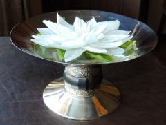 Art Deco Silver Compote with Ebony Detail - 384224