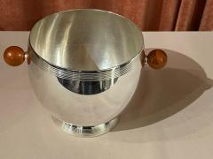Art Deco Silver Ice Bucket with Bakelite Handles by Osiris - 1807013