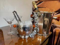 Art Deco Silver Ice Bucket with Bakelite Handles by Osiris - 1807016