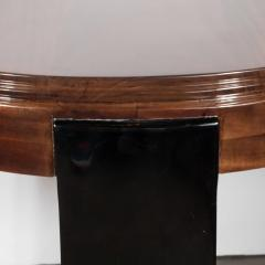 Art Deco Skyscraper Style Stepped Detail Side Table with Black Lacquer Legs - 1522607