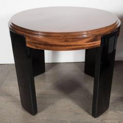 Art Deco Skyscraper Style Stepped Detail Side Table with Black Lacquer Legs - 1522608