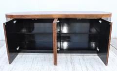 Art Deco Style Burl wood And Chrome Credenza - 1408802