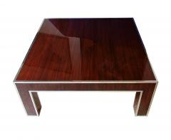 Art Deco Style Ebony deMacassar and Polished Nickel Low Table - 737166