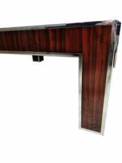 Art Deco Style Ebony deMacassar and Polished Nickel Low Table - 737168