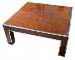 Art Deco Style Ebony deMacassar and Polished Nickel Low Table - 737172
