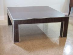 Art Deco Style Ebony deMacassar and Polished Nickel Low Table - 737176