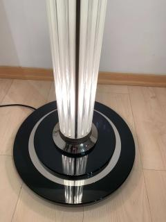 Art Deco Style Floor lamp Chromed Metal and Glass - 1984682
