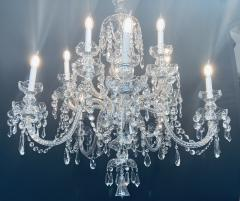 Art Deco Style Large Crystal Chandelier in the Manner of Waterford - 1655677