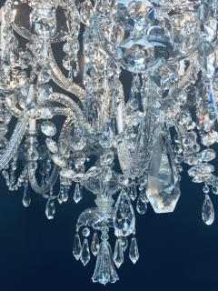 Art Deco Style Large Crystal Chandelier in the Manner of Waterford - 1655679
