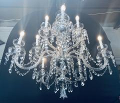 Art Deco Style Large Crystal Chandelier in the Manner of Waterford - 1655681