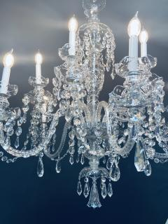 Art Deco Style Large Crystal Chandelier in the Manner of Waterford - 1655682