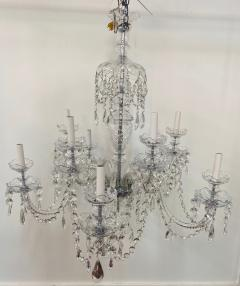 Art Deco Style Large Crystal Chandelier in the Manner of Waterford - 1655683