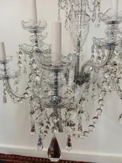 Art Deco Style Large Crystal Chandelier in the Manner of Waterford - 1655687