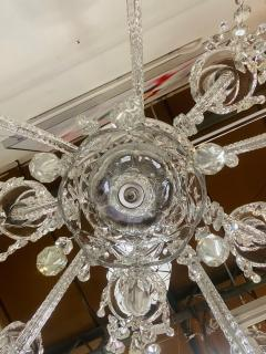 Art Deco Style Large Crystal Chandelier in the Manner of Waterford - 1655689