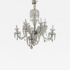Art Deco Style Large Crystal Chandelier in the Manner of Waterford - 1666023