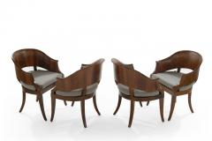 Art Deco Style Walnut Armchairs c 1940s - 1953761