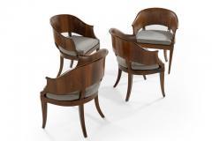 Art Deco Style Walnut Armchairs c 1940s - 1953764