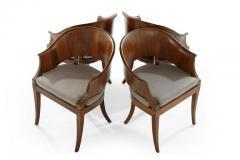 Art Deco Style Walnut Armchairs c 1940s - 1953765
