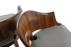 Art Deco Style Walnut Armchairs c 1940s - 1953770