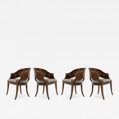 Art Deco Style Walnut Armchairs c 1940s - 1955336