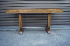 Art Deco Style Zebrawood Console Table - 927919
