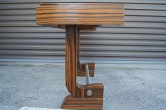 Art Deco Style Zebrawood Console Table - 927924