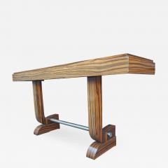 Art Deco Style Zebrawood Console Table - 950754