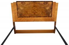 Art Deco Stylish 1930s Walnut Double Bed - 962129