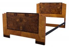 Art Deco Stylish 1930s Walnut Double Bed - 962130