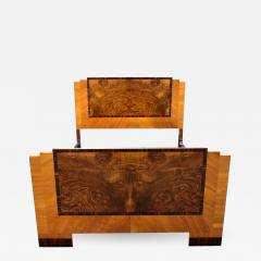 Art Deco Stylish 1930s Walnut Double Bed - 962425