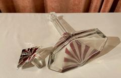Art Deco Sunrise Design Czechoslovakian Decanter - 1807087