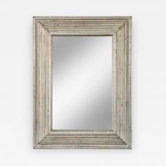 Art Deco Swedish Silvered Wood Framed Mirror - 754920